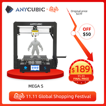 Anycubic i3メガメガ s 3dプリンタプラスサイズ印刷プラットフォームフルメタルフレーム高精度fdm 3dプリンタキットimpresora 3d
