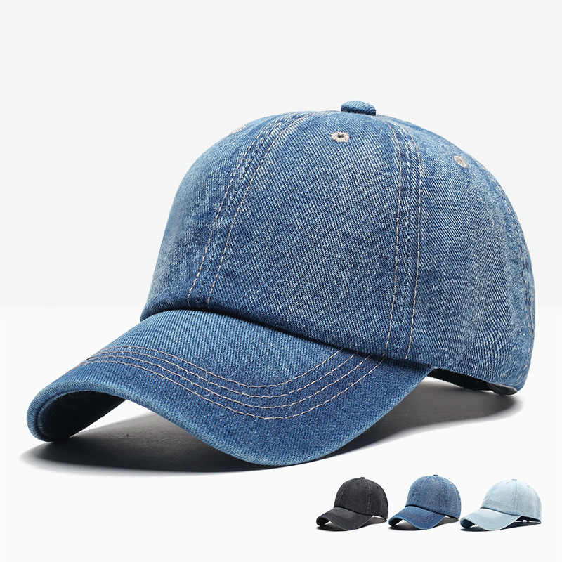 2019 Autumn And Winter Denim Solid Color Baseball Cap Men And Women Couple Hat Fashion Hip Hop Hats