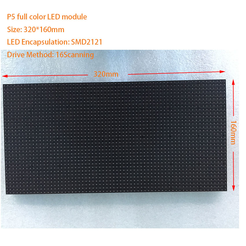<font><b>HD</b></font> tv <font><b>xxx</b></font> <font><b>video</b></font> Indoor LED module SMD2121 3in1 LED display full color 320*160mm 64*32dots RGB P4 P5 P6 P10 led panel ali express image