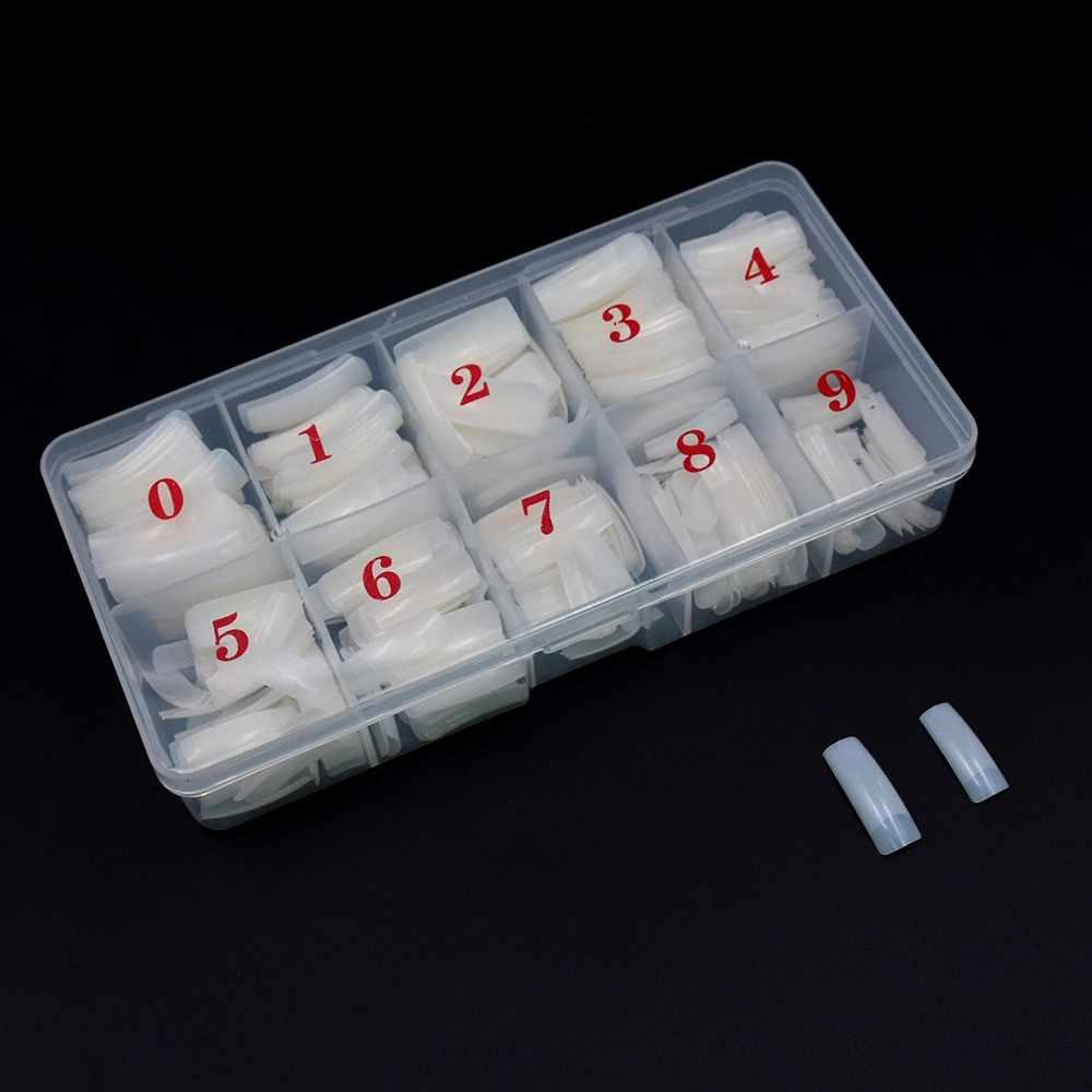 500 шт поддельные ногти капсулы Ongle прозрачные белые накладные ногти с коробкой половинные поддельные ногти искусство акриловые французские Советы маникюрный набор