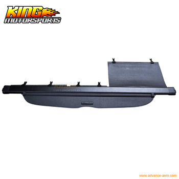 Fit For 07-11 Honda CRV CR-V Retractable Security Black OE Style Rear Cargo Trunk Cover