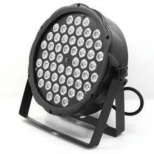 54x3W светодиодный Par Светильник RGBW Диско стирка светильник оборудование 8 Каналы DMX 512 светодиодный вверх светильник s Strobe сценический светиль...