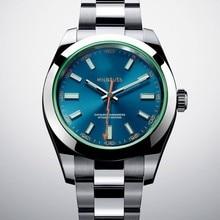 Luxus Marke Neue Milgauss herren Uhr 40mm Automatische Mechanische Uhren Herren Schwarz Blau Zifferblatt Edelstahl Sapphire Glas AAA +
