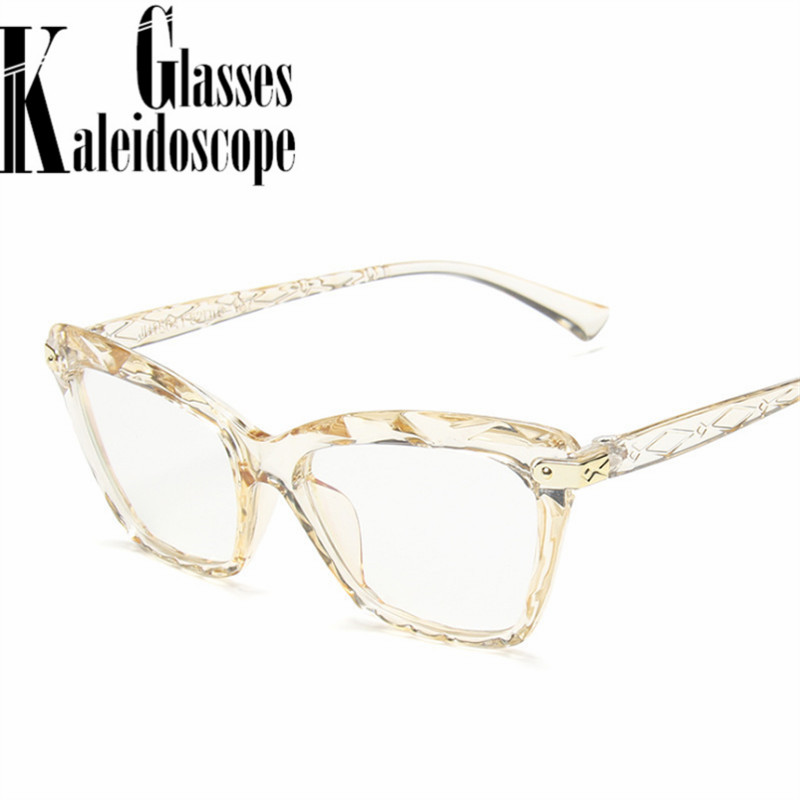2020 Anti-blue Light Glasses Frmae Women Fashion Transparent Spectacle Frames Female Computer Glasses Ultralight PC Eyewear