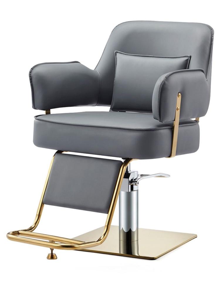 Net Red Hairdressing Chair With The New Paragraph Barber Shop Chair Hair Salon Special Hair Salon Chair High-end Haircut Chair