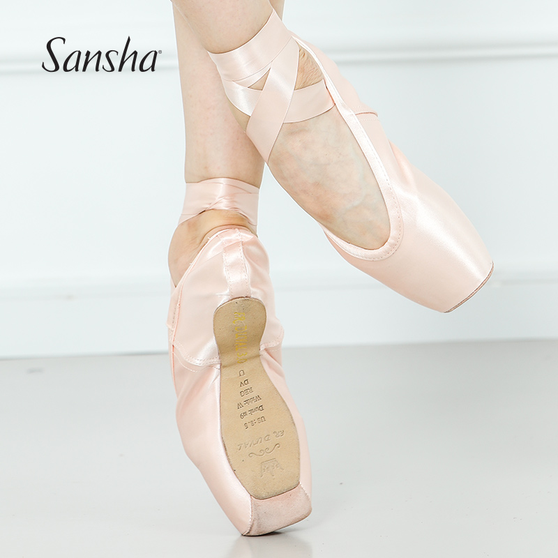 Sansha The Updated 3.0 Version FRD Profession Pointe Shoes With 4 different Strength Ballet Dance Pointe Shoes   FRD3.0