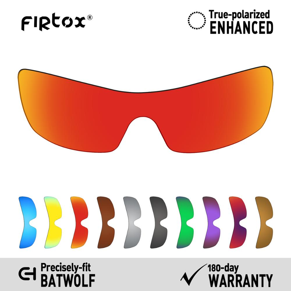 Firtox True UV400 Polarized Lenses Replacement For-Oakley Batwolf OO9101 Sunglasses (Compatiable Lens Only) - Multiple Colors