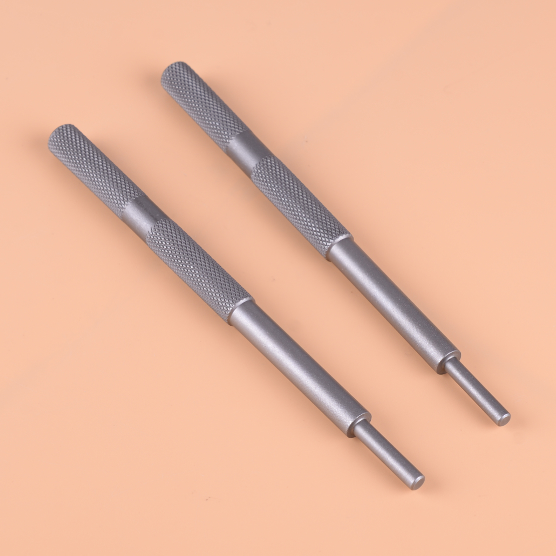 DWCX 2PCS Dark Grey Metal Motorcycle Valve Guide Remover Grinding Stick Lapping Tool
