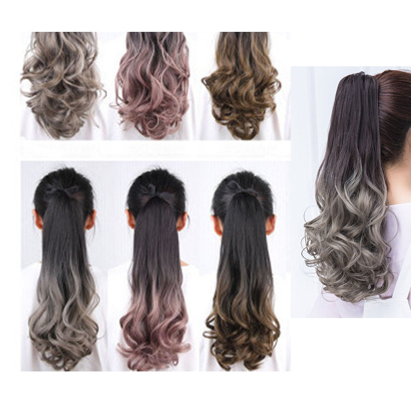 Wavy Wrap Around Clip Heat Resistant Synthetic Natural Wave Pony Tail Fake Hair