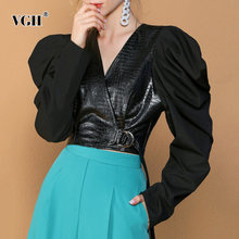 Vgh черная туника короткая рубашка для женщин v образный вырез