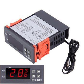 Dual Digital Incubator Thermostat Temperature Controller Two Output Thermoregulator 10A Heating Cooling STC-3008 12V 220V # stc 1000 stc 3000 stc 3008 stc 3018 led digital temperature controller thermostat thermoregulator incubator 12v 24v 110v 220v
