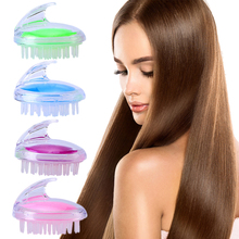 Transparent shampoo brush massage comb silicone cleaning brush hairdressing tools