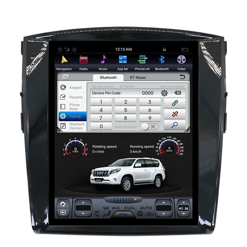 "Tesla style Android 12.1"" Car DVD Video Player GPS Navigation For Mitsubishi Pajero 4 2006-2014 radio stereo wifi bluetooth Pakistan"