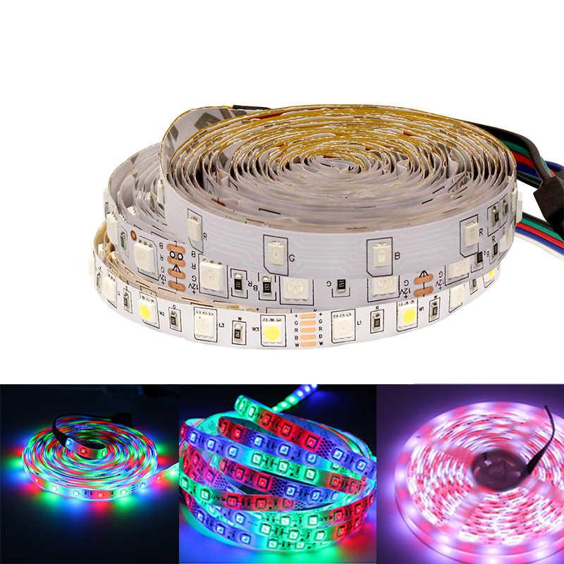 5050 2835 rgb rgbw lumière LED bande étanche 12v 0.5m 1m 5m Flexible bande lumineuse pour pc néon diode LED bande