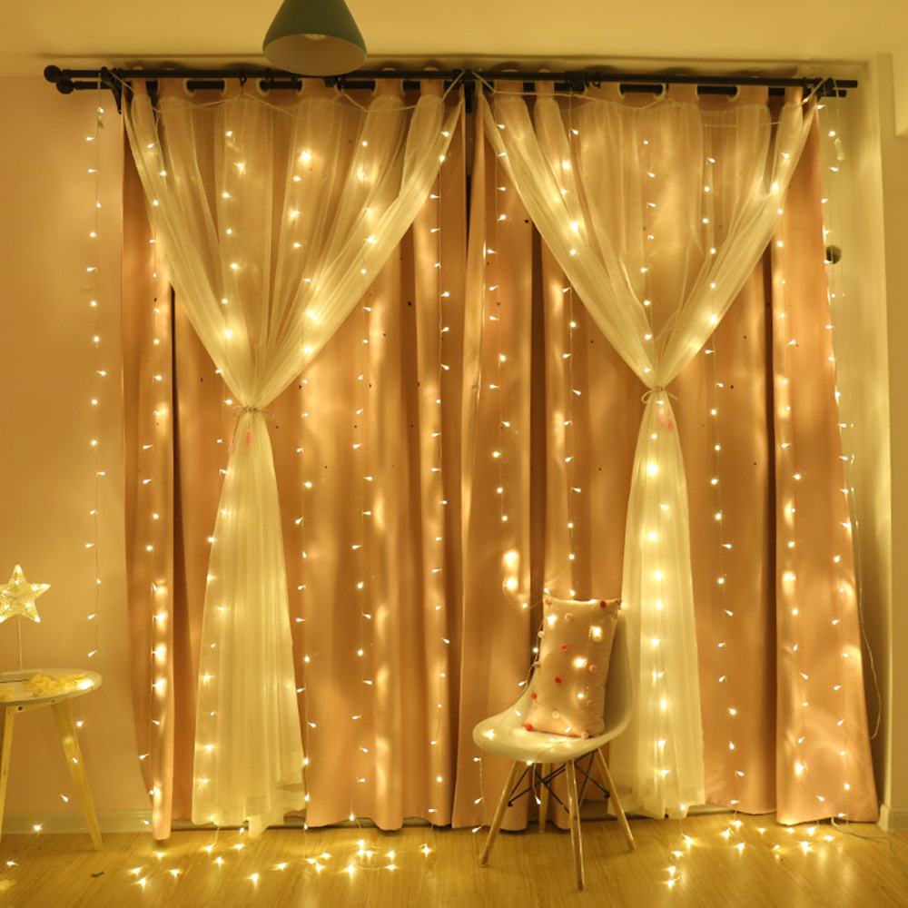 3x3m Led Icicle Led Curtain Fairy String Light Fairy Light 300 Led Christmas Light For Wedding Home Window Party Decor
