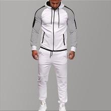 Brand Tracksuit for Men Two Piece White Men Tracksuits Hoodies 2019 Men's Clothing Sport Tracksuit Men Set Men's Clothing Autumn