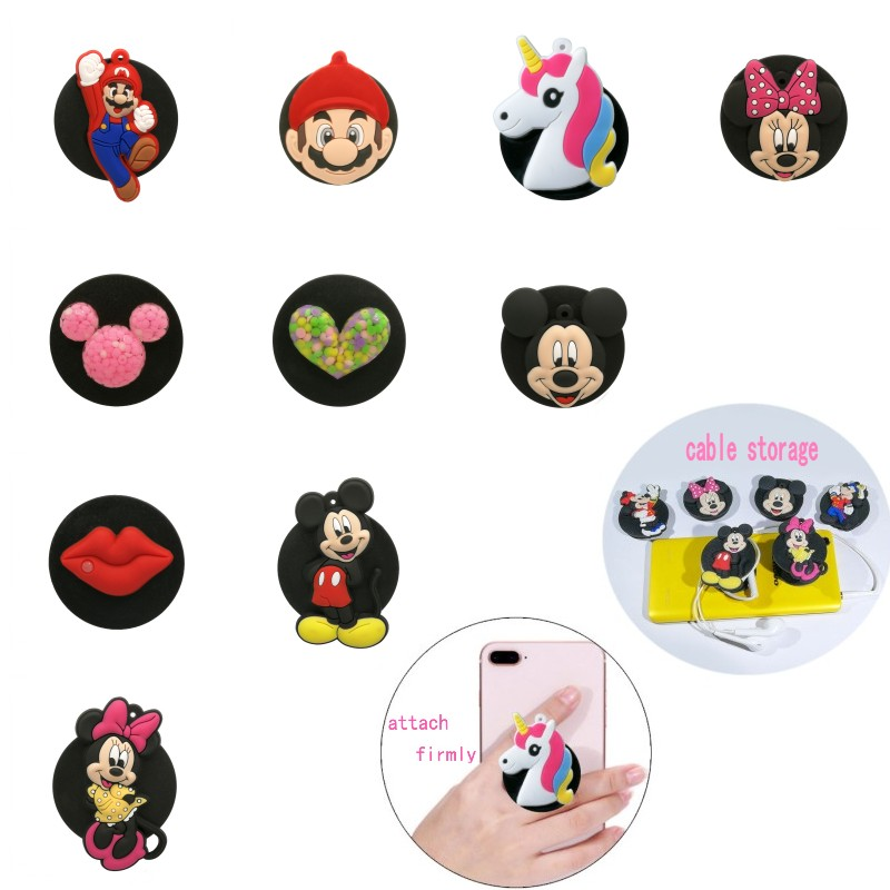 1pcs Cartoon Universal Mobile Phone Bracket Minnie Phone Holders&Stands Star Wars Cute Expanding Stand Unicorn Phone Accessories