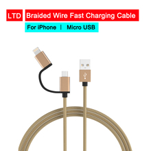 2 in 1 Micro USB Charging Cable line Transfer for iPhone Smartphone Charging For iPhone 6/6S/7/8/6 Plus/7 Plus/8 Plus/X/Xs/Xr red line для iphone 6 plus 6s plus