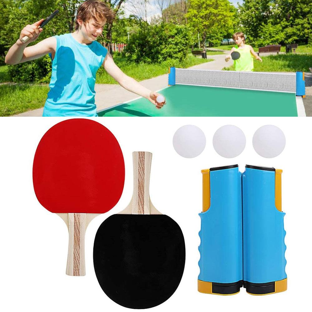 Durable Table Tennis Net Table Tennis Table Random Colors Movement Athletics Game Play Table Tennis Set Portable Pingpong