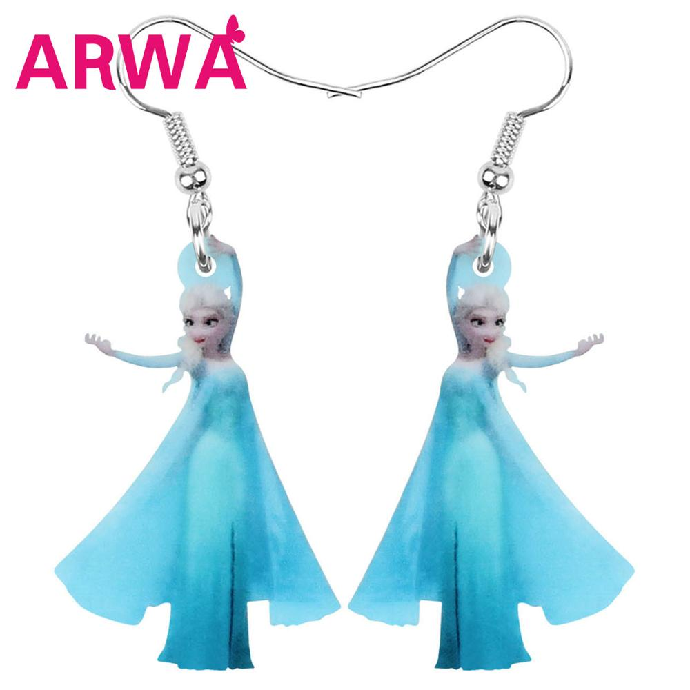 ARWA акриловые милые синие аниме милые серьги принцессы очаровательные Мультяшные Висячие ювелирные изделия для женщин девушек модные подар...
