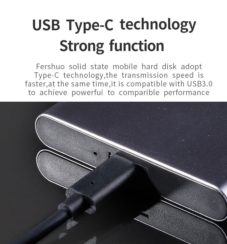 Private customization External SSD hard drive 120GB SSD  500GB Portable SSD External hard drive  for laptop with Type C USB 3.1