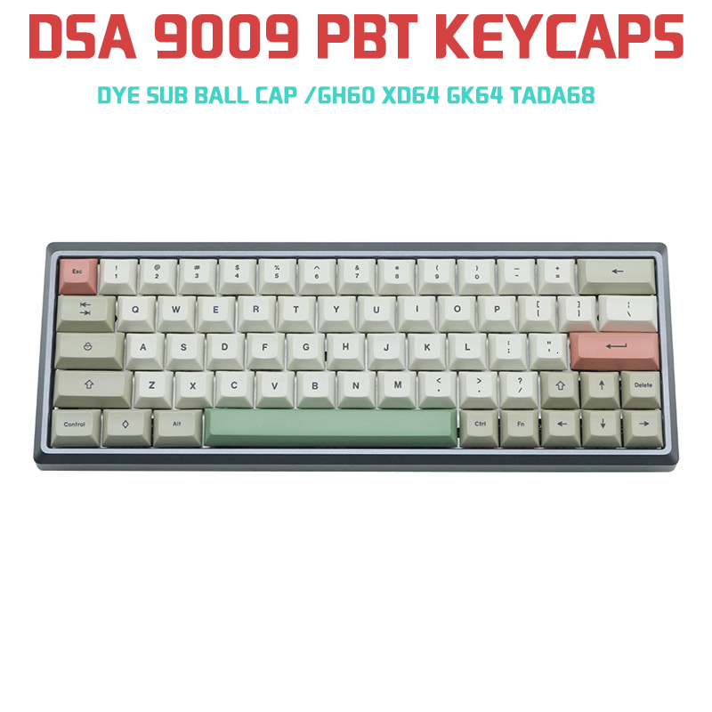 9009 DSA 125 Keys Pbt Gray White Dye Sub Keycaps For Cherry Mx Mechanical Keyboard GH60 XD64 GK64 Tada68 Keycool 84 Tofu96 104
