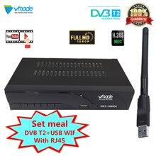 Najnowszy DVB T2 Tuner TV odbiornik naziemny DVB T2 cyfrowy dekoder odbiornik MPEG4 H.265 wsparcie Youtube USB WIFI z RJ45