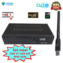 Newest DVB T2 TV Tuner Terrestrial Receiver DVB T2 Digital set top box Receiver MPEG4 H.265 Support Youtube USB WIFI With RJ45