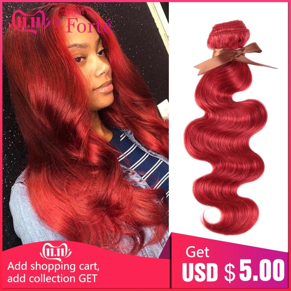 Remy Forte Hair Bundles Brazilian Hair Weave Bundles Red Bundles Human Hair 1/3/4 Hair Extension Single Bundles Hair Vendors