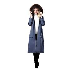 2019 winter womens coat fox fur collar real rex rabbit liner genuine jacket parka