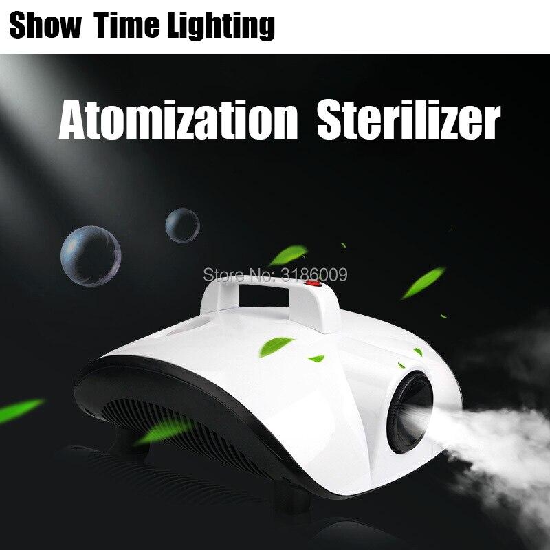 Venda quente portátil atomização esterilizador matar vírus remover cheiro peculiar 1500 w máquina de nevoeiro bom uso para sala de carro escritório