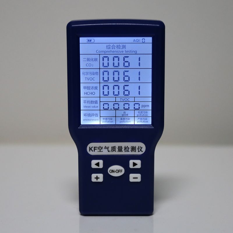 CO2 ppm Meters TVOC HCHO AQI Carbon Dioxide Detector Gas Analyzer Protable Air Quality Tester