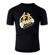 Print Sunlight # Salsa Es La Cura Yellow Tee Shirt Man Women Black Tshirt For Mens Gents Big Size 3xl 4xl 5xl Tee Top(China)