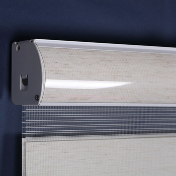 Free shipping rainbow roller blinds, size acceptable, wifi control and wireless control motorized zebra blinds