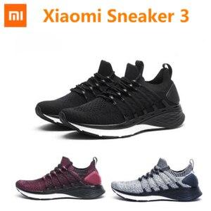 Новые мужские кроссовки Xiaomi Mijia 3, уни-Молдинг 2,0, система фиксации рыбий кости, эластичная трикотажная амортизирующая подошва