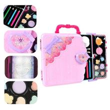 Girls Toys Lighting Painting Board Doll Children's Princess Portable Makeup Box Beauty Pretend Play Makeup Game Toys