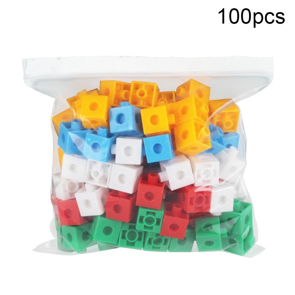 Купить с кэшбэком 100Pcs Kids Block Toy Magic Building Blocks Cubes Stacking Kids Intelligence Develping Toy DIY Building Model Educational Toy