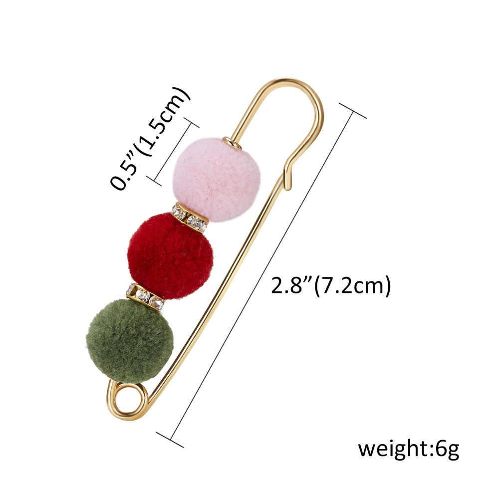Clássico scrub multi-color 3 contas pérola strass grande pino broche estilo coreano para as mulheres cachecol vestindo broche festa jóias presente
