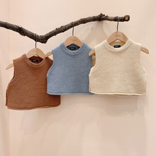 Baby Vest Kids Winter Boy Autumn Solid Outerwear Sweaters Pullover Chalecos Knit Infantil