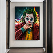 Movie Star De Joker Olie Canvas Schilderij Poster Prints Joker Comic Wall Art Schilderen Foto 'S Voor Woonkamer Home Decor(China)