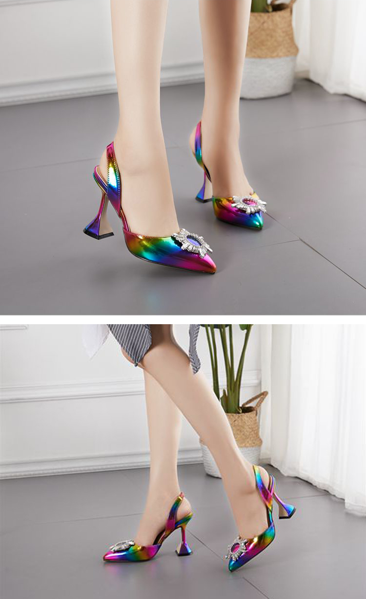 Women Rainbow Color Sandals