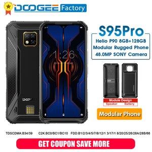 Image 1 - DOOGEE S95 Pro Smartphone Helio P90 Octa Core 8GB 128GB 48MP kamera IP68/IP69K 6.3 Cal telefon komórkowy