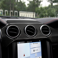 Carbon Fiber Interior Decoration Dashboard Panel Cover Trim for Ford Mustang Car Stylish Decal Stickers Accessories Brand New