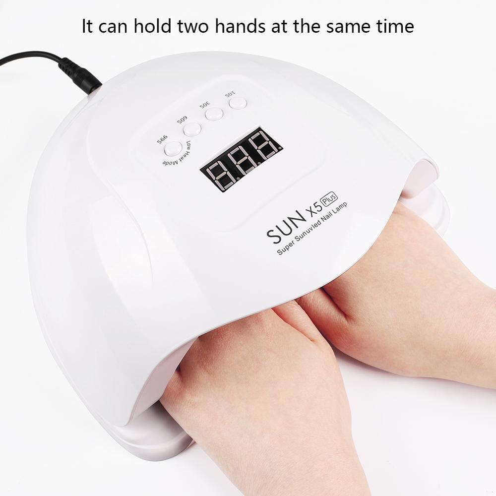 UV LED Lamp For Nails Dryer Sun Light Nail Lamp For Manicure Smart LCD Display For All UV LED Gel Polish Nail Tool