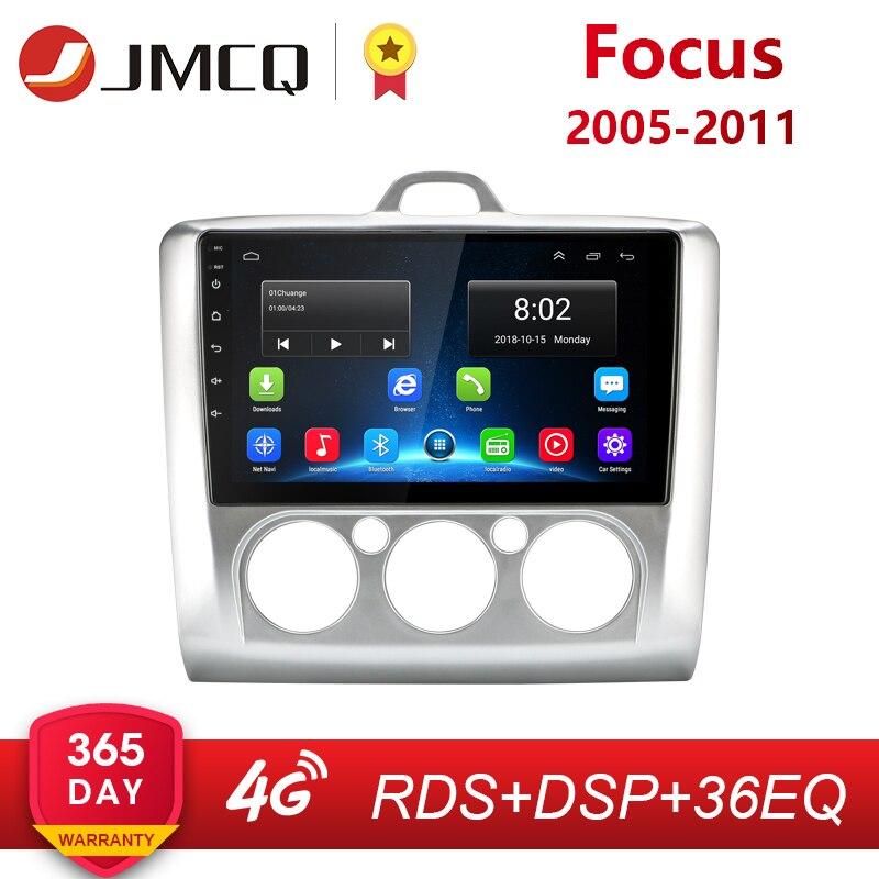 JMCQ 9 2 Din 4G wifi Автомагнитола для Ford Focus Exi MT AT 2004 2011 мультимедийный плеер четырехъядерный Android 8,1 gps навигация
