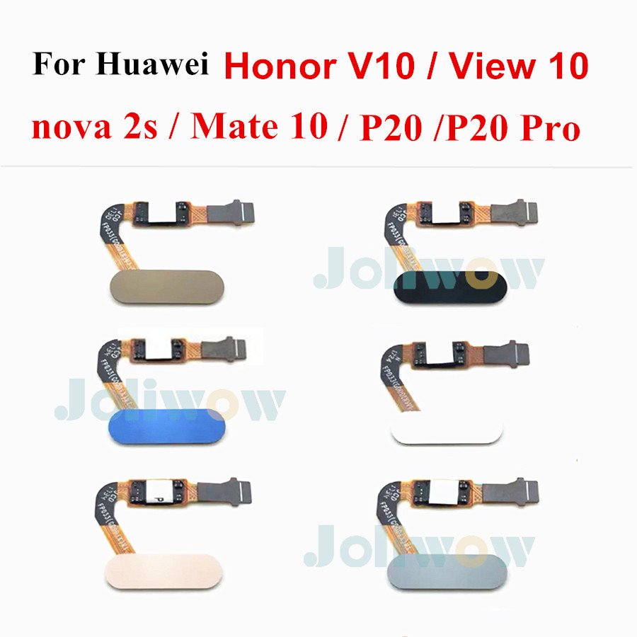 ホームボタン Huawei 社 honor V10 nova 2s p20 p20 プロメイトのため 10 honor ビュー 10 指紋センサースキャナフレックスケーブル携帯電話用フレックスケーブル   -
