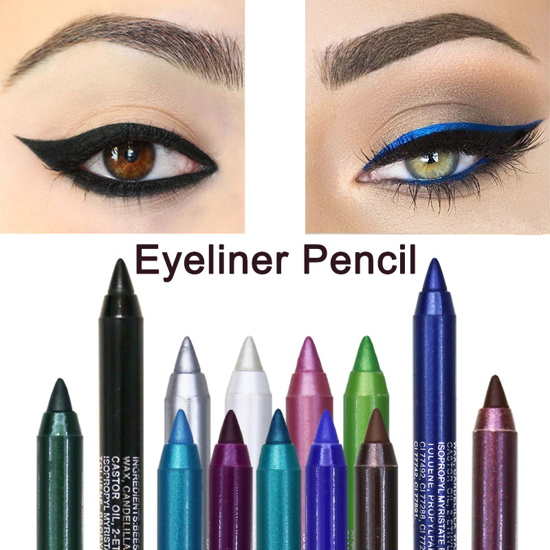1 PC Fashion WomenLong-lasting Eyeliner Pencil Waterproof Eyeliner Eyeshadow Pen Cosmetic Makeup Tools Pearl Eye Shadow Pen