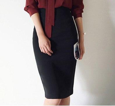 Skirt 2018 Autumn Clothing New Style Korean-style Slim Fit Sheath Women's Dress Slimming Slit Midi-skirt