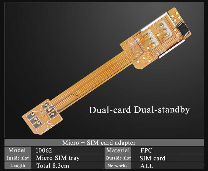 Artículo útil, ranura para tarjeta SIM Adaptador de Dual 2 para iPhone 4 4S, Micro adaptador de tarjeta SIM