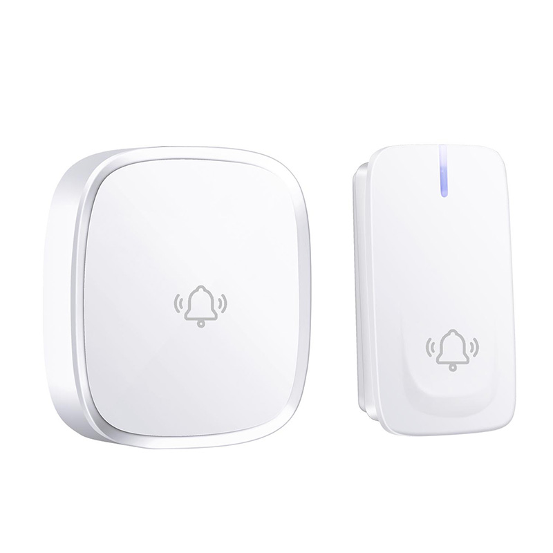 AMS-No Battery Need Wireless Doorbell Waterproof Smart Door Bell Cordless Ring Doorbells Remote Ac 110V-220V(Us Plug)